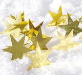Merry Christmas: golden stars and snow :) - 178346487