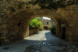 Fototapety sight of the streets of the medieval town of Peratallada in Gerona, Spain.