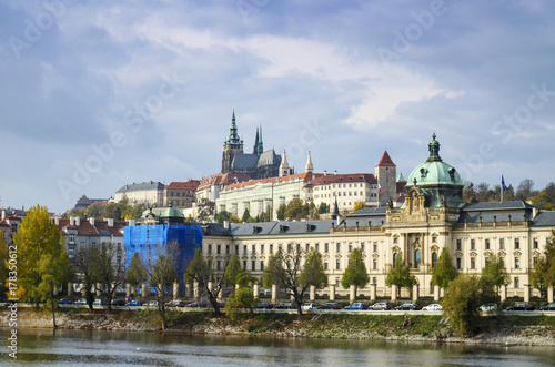 Prague Castle and Saint Vitus Cathedral Panoramic view, Czechia Poster