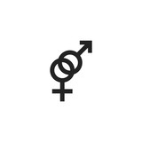 Venus and Mars Symbols Icon Vector Isolated - 178359413