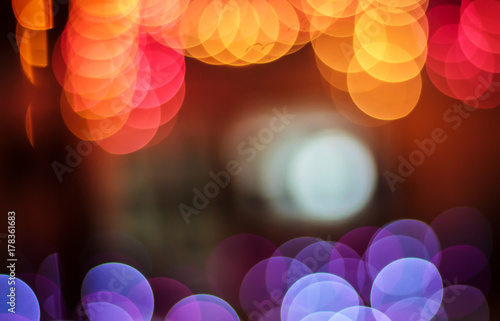 Bokeh background with red orange purple colors