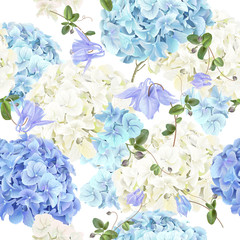 Hidrangea blue pattern © purplebird