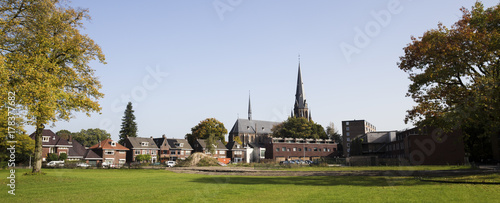 canvas print picture enschede city in the netherlands