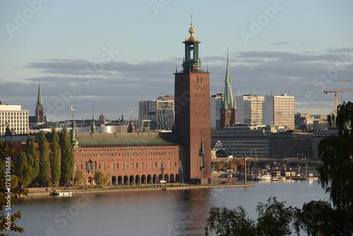 Staande foto Stockholm Stockholm City Hall