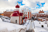 Russian orthodox church. Iversky monastery in Samara, Russia - 178396832