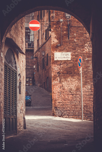 Deurstickers Toscane Siena