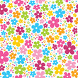 Cute colorful rainbow flowers seamless pattern vector illustration - 178402825