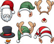 Christmas hats. Vector clip art illustration with simple gradients. Each item on a separate later. - 178410684