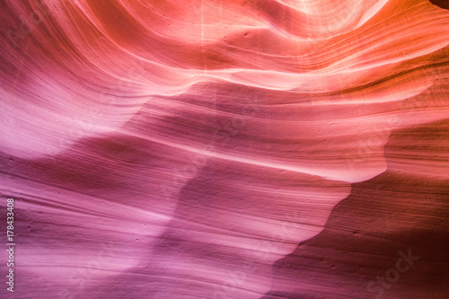 Aluminium Koraal amazing shapes at antelope canyon, arizona