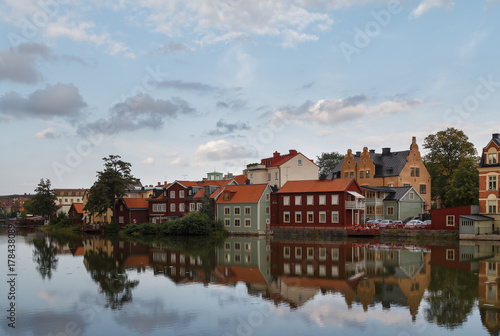 A view to the old part of Eskilstuna, Sweden