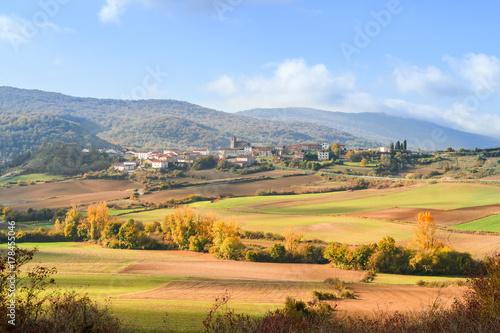 Deurstickers Toscane spanish field landscape at autumn season