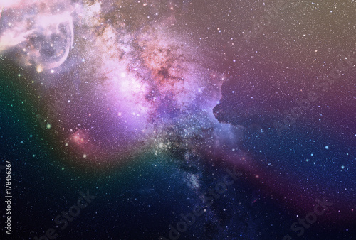 Foto op Canvas Heelal Beautiful Starry Sky Milky Way Background, Photo Overlay Effect Instant Download JPG