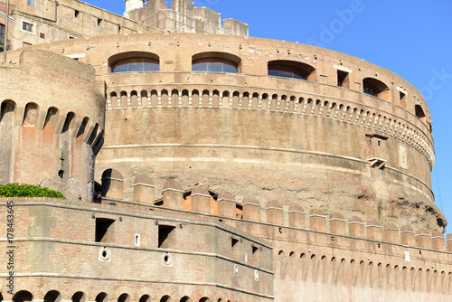 Castle Sant Angelo along the Tiber river, Rome Italy also known as the Mausoleum Poster