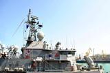 Modern Warship In The Ocean