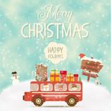 Merry Christmas Greeting Card - 178482021