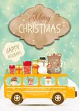 Merry Christmas Greeting Card - 178482055