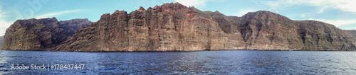 Deurstickers Canarische Eilanden Panorama view of Tenerife - cliffs of giants - Los Gigantes - spain