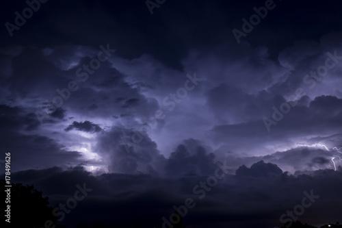 Lightning in the sky of Rome Poster