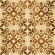 Retro brown watercolor texture grunge seamless background rose flower kaleidoscope