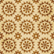 Retro brown watercolor texture grunge seamless background round cross flower - 178509827