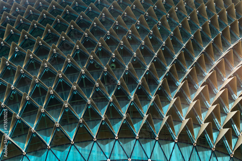 Glass structure Glass background