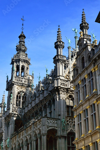 Fotobehang Brussel Maison du Roi, a neo-Gothic style building housing Brussels City Museum located in historic city centre on the Grand Place, Brussels, Belgium