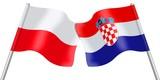 Flags. Poland and Croatia