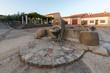 Old fountain with watering trough in San Felices de los Gallegos. Spain.