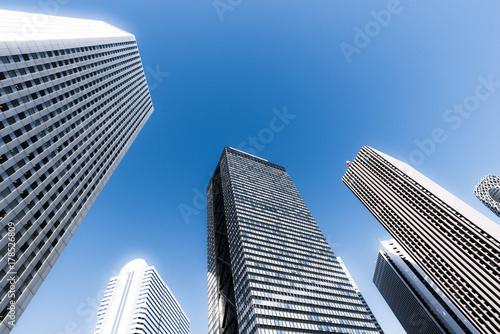 Fotobehang Tokio 新宿副都心の高層ビル