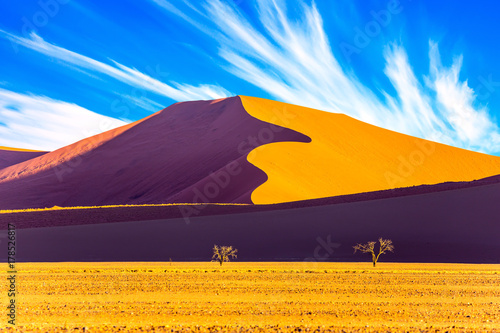 Fotobehang Aubergine The Namib-Naukluft at sunset