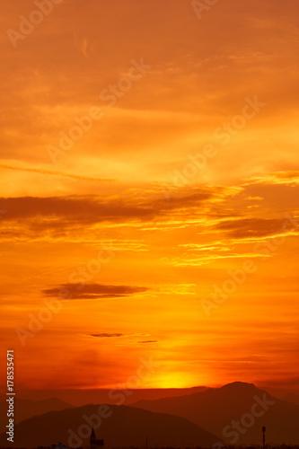 In de dag Oranje eclat Sunset.