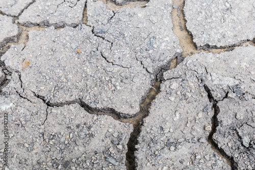 In de dag Stenen Global warming and pollution concept. Texture of dry crack ground of land without rain background