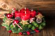 Leinwandbild Motiv Weihnachtskranz