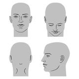 Man hairstyle head set - 178594016
