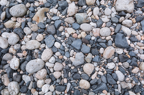 Aluminium Bergrivier Pebbles in the bed of the river Ardeche