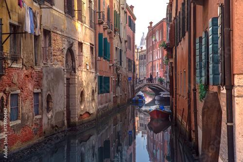 Poster Smal steegje Kanäle Venedig