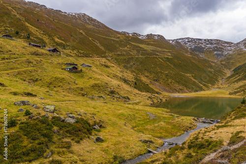 Foto op Plexiglas Bergen Nafinger See und Nafinger Alm