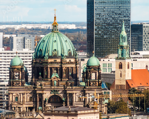 Papiers peints Berlin Aerial view of historic Berlin Cathedral