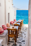 Fototapety Traditional street of Mykonos island in Greece