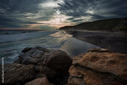 Fotobehang Zee zonsondergang Mermejita 01
