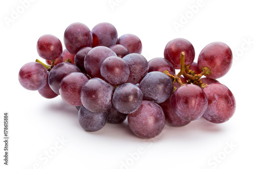 Ripe red grape isolated on white. Poster