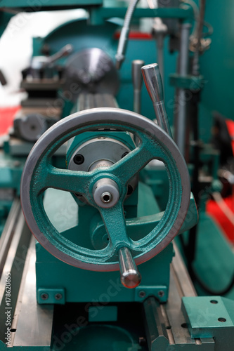 tailstock of the lathe machine Poster