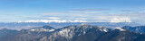 Panorama of the Tatra Mountains from slopes of Low Tatras