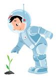 Funny boy cosmonaut or astronaut - 178645271