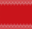 Knitted christmas background. Red and white geometric ornament. Xmas knit winter sweater texture design.