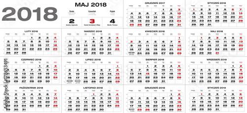 Kalendarz na rok 2018 © studioJowita