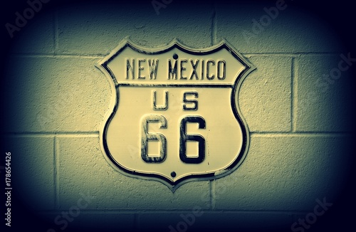 Route 66 sign in New Mexico. Poster