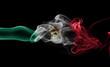 Mexico national smoke flag