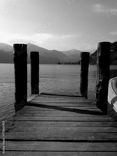 Fotobehang Pier Lake Orta Boardwalk