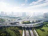 road junctions in midtown of modern city